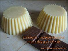Csokis - narancsos testápoló tömb Beauty Bar, Diy Beauty, Homemade Beauty Recipes, Doterra, Homemaking, Health Tips, Desserts, Bath Bombs, Food
