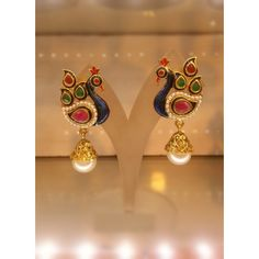 Peacock Earrings for Everyday Wear as well as for Special Occasions