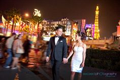 Las Vegas Event and Wedding Photographer - Exceed Photography blog- Proffesional Portraits on location, Las Vegas Strip, bride and groom walking