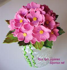 Tarro de cristaL con tapa de flores de goma eva