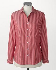 Double stripe no-iron Perfect Shirt® - [K20965]