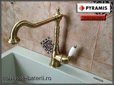 Baterie bucatarie Baroque culoare bronz model retro