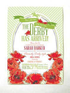 Derby Bridal Shower Invitation Printable
