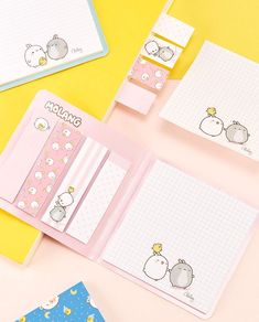 Kawaii Pen Shop | Molang rabbit post-it decorative adhesive sticky notes | sticky memo pad | notepad | index tabs | cute animal stickies