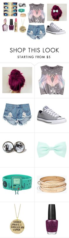 """""""My life in one outfit..."""" by taylormcadams17 ❤ liked on Polyvore featuring Forever 21, Boohoo, Converse, Accessorize, Madewell, Alisa Michelle and OPI"""