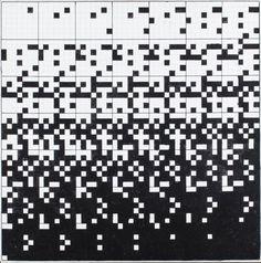 RYSZARD WINIARSKI (1936 - 2006)  PRZYPADEK W GRZE 7X7, 1999   olej, płótno / 50 x 50 cm  opisany na odwrocie: przypadek w grze 7x7/ winiarski '99