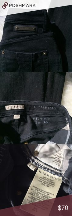 Burberry Brit High-waisted Flare Jeans High-waisted flare black denim jeans - barely worn, no fading Burberry Jeans Flare & Wide Leg