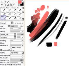 65 Sai Paint tool brush settings - Free brushes for Sai Paint Tool Digital Painting Tutorials, Digital Art Tutorial, Painting Tools, Art Tutorials, Sai Brushes, Photoshop Brushes, Free Brushes, Paint Tool Sai Tutorial, Oil Brush