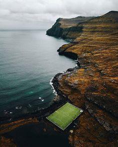 Eiði Stadium Eiði village Island of Eysturoy Faroe Islands Photo Faroe Islands, Tours, River, Explore, World, Amazing, Nature, Outdoor, The World
