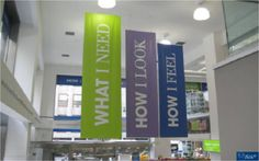 Duane Reade's entrance strategy to get customers into the desired mindset to buy. How could YOUR #consignment, resale, thrift use banners like these?