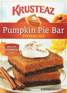 Krusteaz Pumpkin Pie Bar Supreme Mix, 17.25-Ounce Boxes (Pack of 12) * SPECIAL OFFER AHEAD! : baking desserts recipes