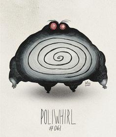 Poliwhirl #061 Part ofThe Tim Burton x PKMN ProjectBy Vaughn Pinpinhatb