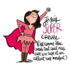 ah oui , ça me ferait un super look çà ! Mantra, Best Quotes, Funny Quotes, Haha, French Quotes, Illustration, Jokes, Positivity, Lettering