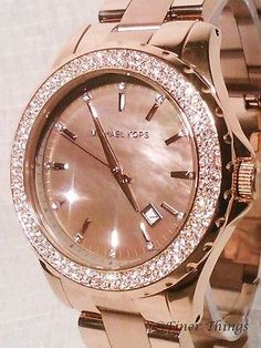 NWT!!! Michael Kors Runway Mother of Pearl Rose Gold Ladies Watch MK5453   Jewelry & Watches, Watches, Parts & Accessories, Wristwatches   eBay!