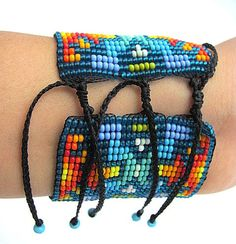 Items similar to Seed Beaded Bracelet. Colorful Spirals and Fire sparks design. on Etsy Loom Beading, Beading Patterns, Sparks Design, Loom Craft, Bead Loom Bracelets, Native American Beadwork, Tear, Ring Earrings, Seed Beads