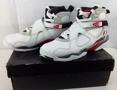 8a5c26f2a058 Nike Air Jordan VIII 8 Retro GS BUGS BUNNY Black White 305368-103 Size 6.5  Y  Nike  Athletic