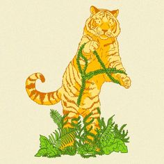 Lemon tiger to brighten your day 🌞🤩😄🐯 . Tiger Drawing, Drawing Art, Nature Plants, Brighten Your Day, Sunny Days, Digital Art, Cat Illustrations, Photoshop, Yellow