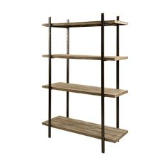 You can't have enough shelving. This Urban Minimalist Bookshelf is perfect for storing books, photos, and other odds and ends without ruining your industrial chic vibe.  Find the Urban Minimalist Bookshelf, as seen in the Casa De La Artista Collection at http://dotandbo.com/collections/casa-de-la-artista?utm_source=pinterest&utm_medium=organic&db_sku=IMX0298