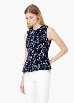 Top lunares - Camisas de Mujer | MNG