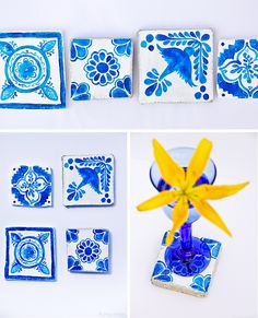 Hand painted tiles...