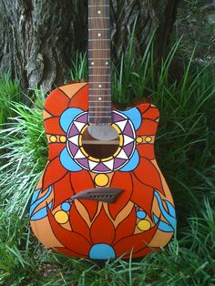 Art Guitar, I have a guitar that I don't know how to play. If my guitar looked like this I'd probably play it. Maybe I'll paint mine.