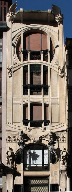 Art Nouveau building designed in 1911 by the Florentine Giovanni Michelazzi.  Florence, Italy