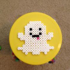 Ghost Halloween perler beads by hollistartist