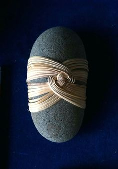 Cane wrapped rock