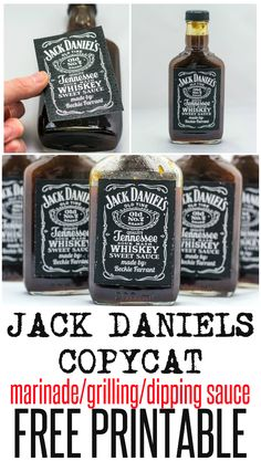 Jack Daniels Copycat sauce recipe with free printable