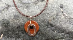 3mm Brown Leather Necklace with Greek by DesignsbyPattiLynn