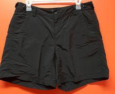 Eddie Bauer Sport Active Fit Womens Short Pants Zips Pocket Size 6 Black Casual | eBay