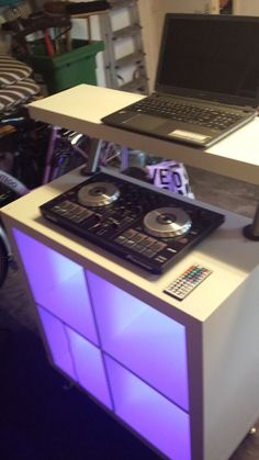 Holy crap, this would be so easy to build and transport!!! - - -  IKEA Expedit DJ Booth for LoungeBar - IKEA Hackers