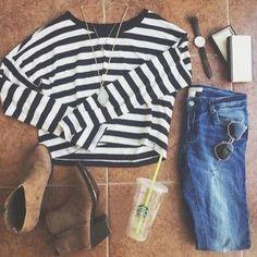 #stripe #shirt #romwe
