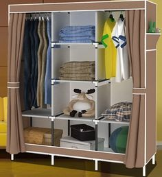 Lemari pakaian, Besar dan menengah, Lemari lemari lipat sederhana penguatan menerima disimpan pakaian toko konten bahtera