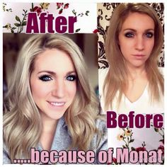 Beautiful hair with Monat