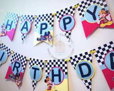 Mickey Roadster Racers Banner Mickey Roadster Racers Birthday