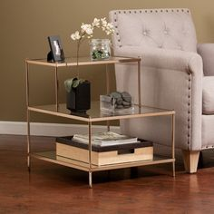 Harper Blvd Jacana Glam Accent Table   Overstock.com Shopping - The Best Deals on Coffee, Sofa & End Tables