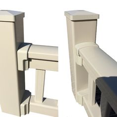 Our New Super Rail Bracket Shrouds are available in all our Standard Colours to give a seamless feel and cover unsightly bracket screws. Shown here in Tan Post Sleeve, Railings, Deck, Colours, Cover, Design, Floating Stairs, Front Porch, Decks