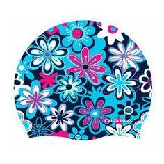 Diana Men's Flowers Swim Cap Blue/Pink