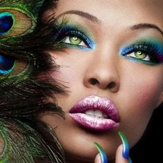 dramatic makeup | Dramatic eye makeup for black women