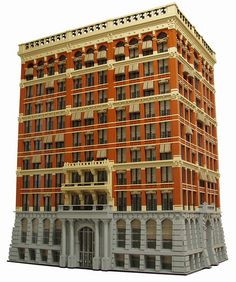Home Insurance Building, Chicago, IL. One of the first building to use structural steel in its frame