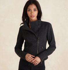 Motorcycle jacket in Gorgeous Grey Wool
