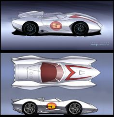 Speed Racer Concept Art by George Hull.