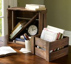 Wooden Crate Modular Home Office Storage