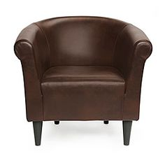Chestnut Brown Tub Chair at Big Lots.