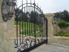 Hierro forjado principal puerta para el hogar-imagen-Vallado, Enrejado y Puertas-Identificación del producto:745785142-spanish.alibaba.com