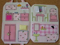 Кукольный дом ручной работы. Ярмарка Мастеров - ручная работа. Купить Кукольный домик сумочка. Handmade. Розовый, сумочка для девочки