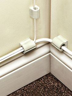 Cord Control is as neat and easy as peel-and-stick clips. No bulky tubes or tricky cord manipulation needed. These self-stick cords have a soft opening slit that makes it easy to slip cords in place. Use them to hold and guide loose cords across any flat surface, including walls, desks and TV stands.