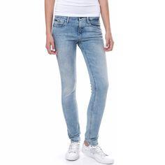 CALVIN KLEIN JEANS - Γυναικείο τζιν παντελόνι Calvin Klein Jeans μπλε | γυναικεια τζιν, γυναικεια τζιν παντελονια, προσφορες τζιν