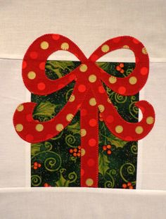 Christmas Presents Finished Appliqued Quilt Blocks